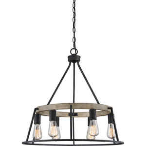 Afton Grey Six-Light Chandelier