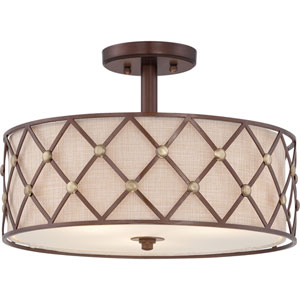 Kenwood Copper Three-Light Semi Flush Mount