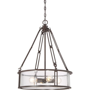 Aster Bronze Four-Light Drum Pendant