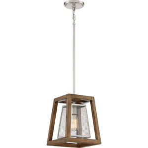 River Station Brushed Nickel 10-Inch One-Light Mini Pendant