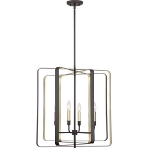Nicollet Bronze Four-Light Pendant