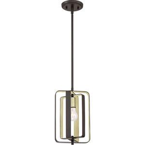 Nicollet Bronze Eight-Inch One-Light Mini Pendant