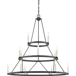 Evelyn Black 15-Light Chandelier
