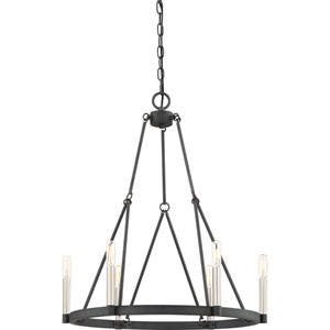 Evelyn Black Six-Light Chandelier