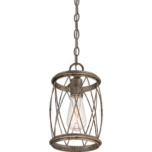 Hayden Silver Leaf One-Light Mini Pendant