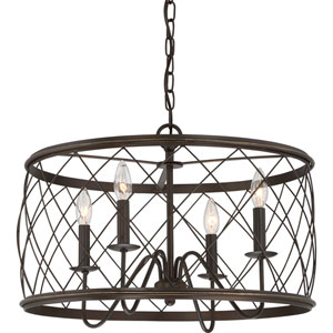 Hayden Bronze 21-Inch Four-Light Pendant