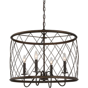 Hayden Bronze Four-Light Pendant
