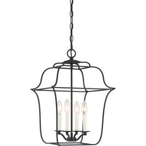 Whitter Black Four-Light Pendant