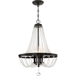 Monroe Bronze 21-Inch Four-Light Chandelier