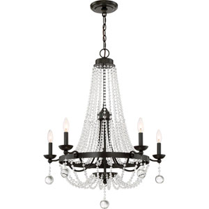 Monroe Bronze Five-Light Chandelier