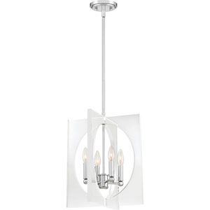 Uptown Polished Chrome 14-Inch Four-Light Pendant