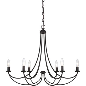 Evelyn Bronze Six-Light Chandelier