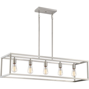 Nicollet Brushed Nickel Five-Light Pendant