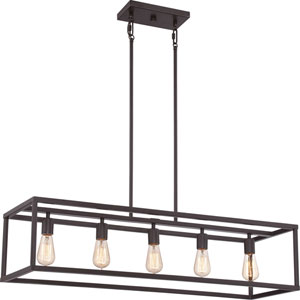 Nicollet Bronze Five-Light Island Pendant