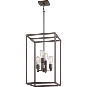 Nicollet Bronze Four-Light Mini Chandelier