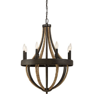 Afton Tarnished Bronze Eight-Light Chandelier