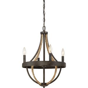 Afton Tarnished Bronze Four-Light Chandelier