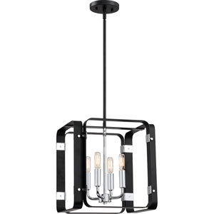 Uptown Black 14-Inch Four-Light Pendant