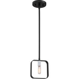 Uptown Black One-Light Mini Pendant