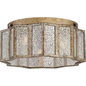 Cooper Gold Three-Light Flush Mount