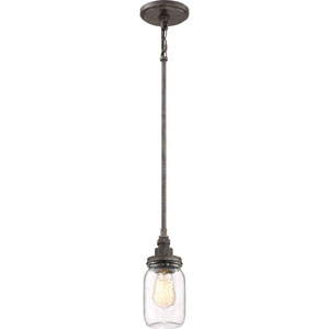 River Station Black Four-Inch One-Light Mini Pendant