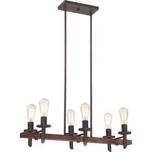 Afton Bronze Six-Light Island Pendant