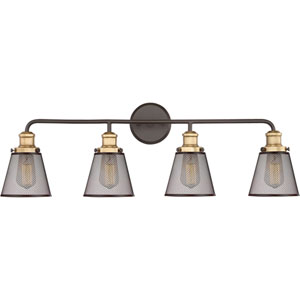 Afton Bronze Four-Light Bath Vanity