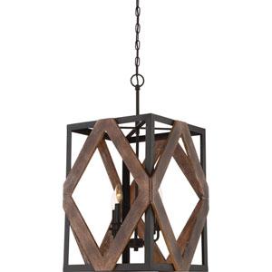 Afton Bronze Four-Light Pendant