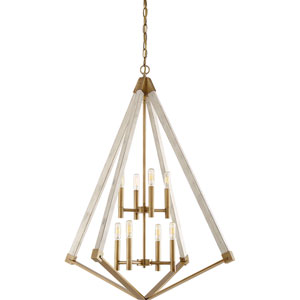 Cooper Weathered Brass Eight-Light Pendant