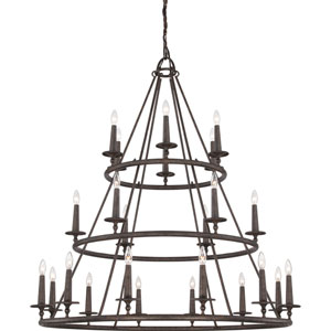 Selby Bronze 24-Light Chandelier