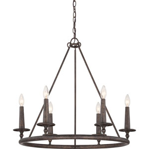 Selby Bronze Six-Light Chandelier