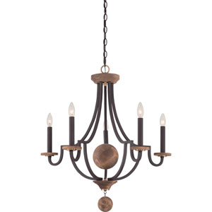 Afton Bronze Five-Light Chandelier