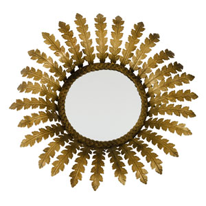 Wellington Antique Brass Mirror