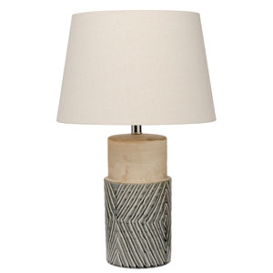 River Station Grey Ceramic One-Light Table Lamp