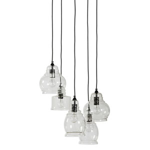 Grace Black Five-Light Pendant
