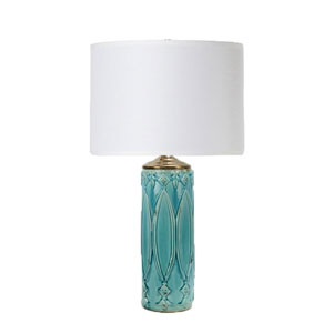 Selby Turquoise Ceramic One-Light Table Lamp