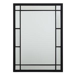 Afton Matte Black Rectangular Mirror