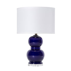 Selby Navy Ceramic One-Light Table Lamp