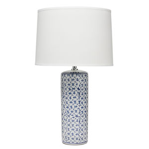 Selby Blue and White Ceramic One-Light Table Lamp