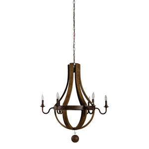 Fulton Natural Six-Light Chandelier