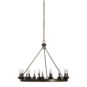 River Station Iron 15-Light Chandelier