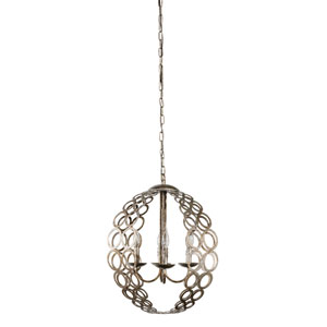 Whittier Silver Four-Light Chandelier