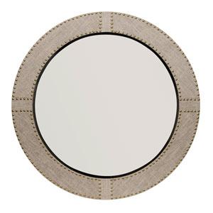 Hayden Natural Linen Round Mirror