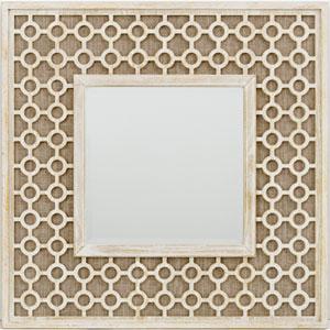 Nicollet Natural Linen and Natural Wood Rectangular Mirror