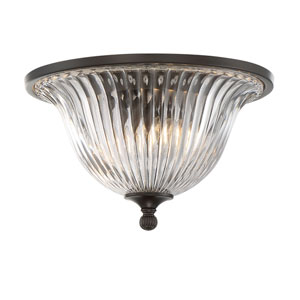 Evelyn Bronze Two-Light Flush Mount