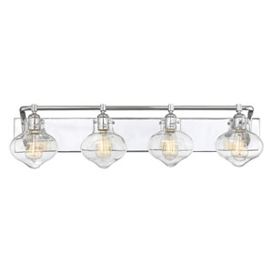Isles Polished Chrome 36-Inch Four-Light Bath Vanity
