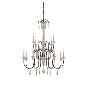 Grace Wood 12-Light Chandelier