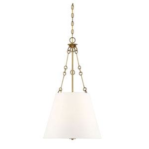 Selby Warm Brass Four-Light Pendant