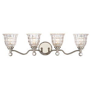 Isles Polished Nickel Four-Light Bath Sconce