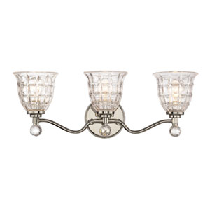 Isles Polished Nickel Three-Light Bath Sconce